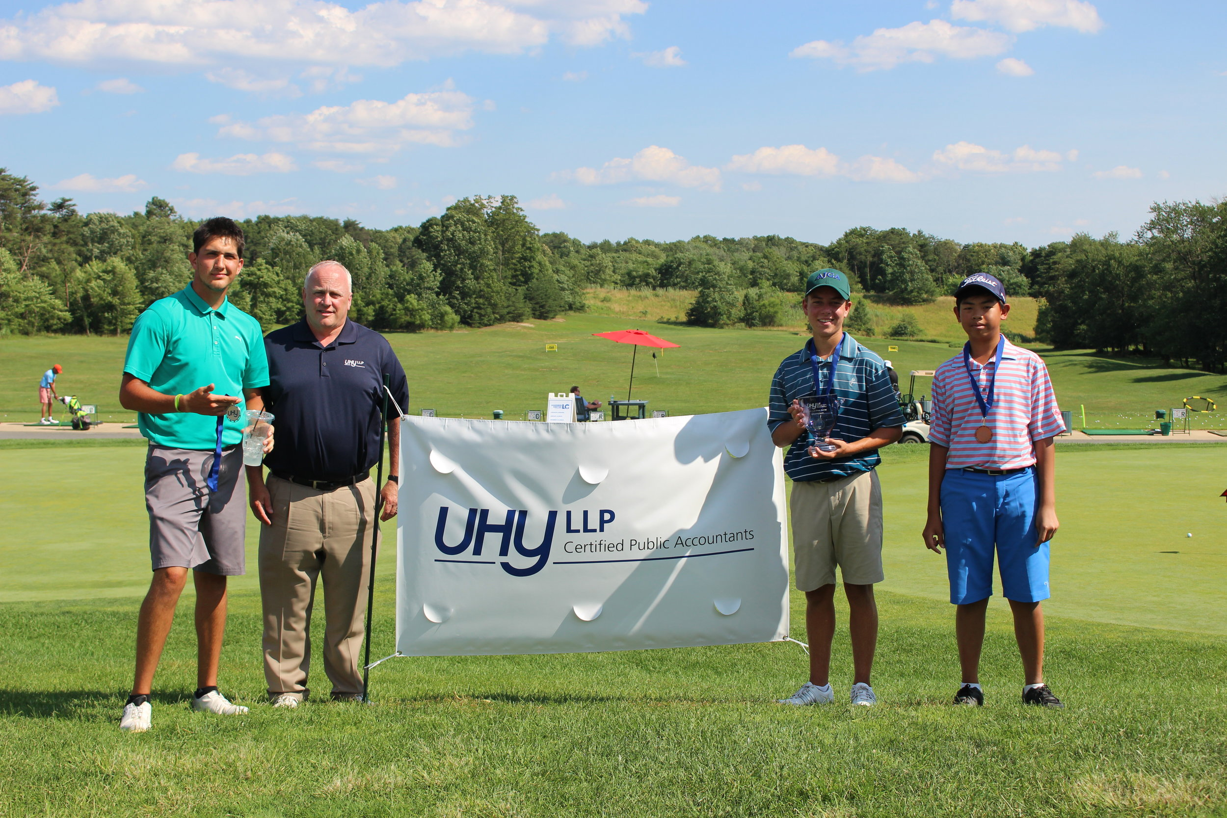 Caleb Taylor from Woodbine, MD was the boys champion (73-79-152), while William Creery from Fallston, MD was runner up and Benjamin Siriboury from Clarksville, MD finished third.