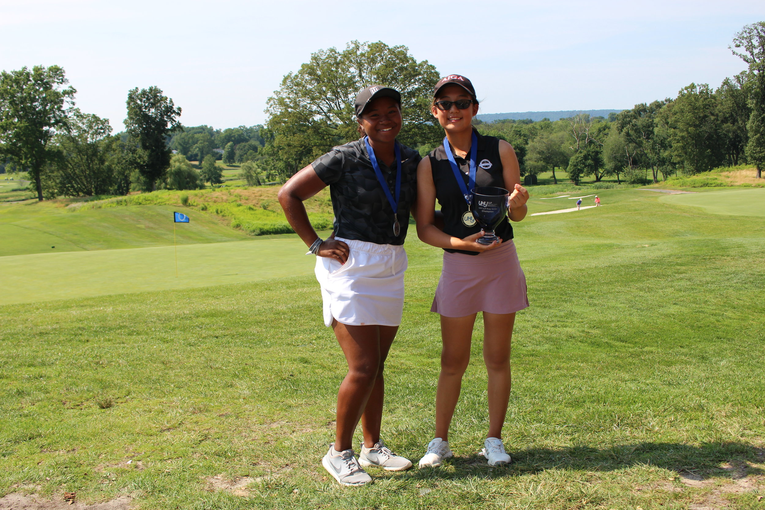 Angelina Kim from Tenafly, NJ was the girls champion, with a 156 total (80-76). Ray Lee from Springfield, VA was the runner-up, with a 163 total (78-85).