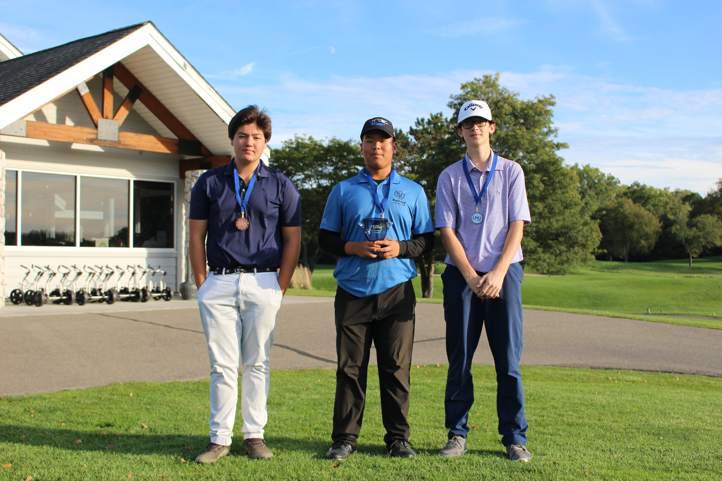 Eric Yun from Richmond Hill, Ontario was the boys champion with a 146 total (74-72). Brockton English was runner-up (74-76-150), while Matt Baer finished third (79-76-155)