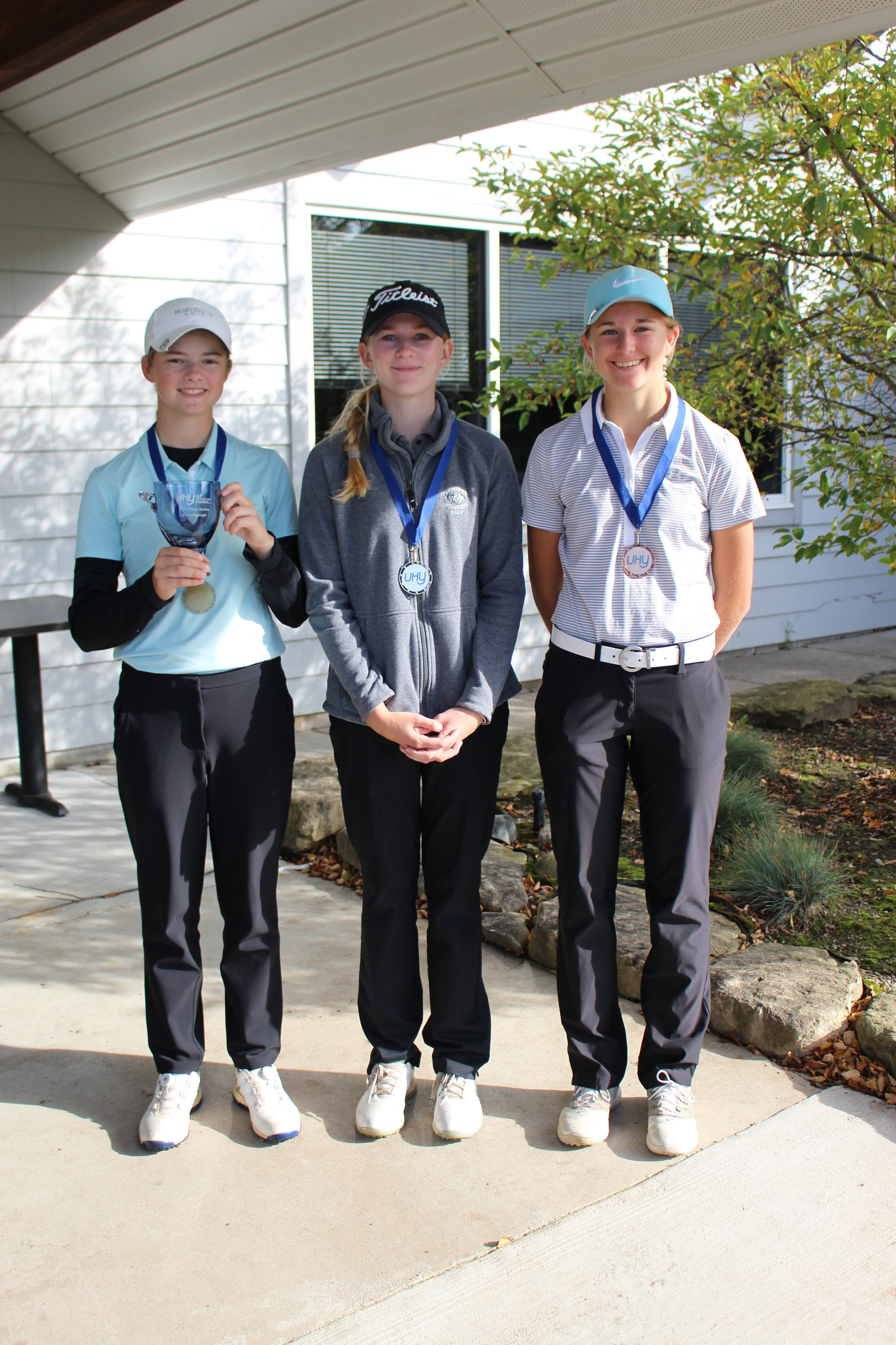 Bridget Boczar from Canton, Michigan was the girls champion, with a 156 total (73-83). Grace Boczar was runner-up (81-78-159), while Sabel Imesch finished third (80-86-166).