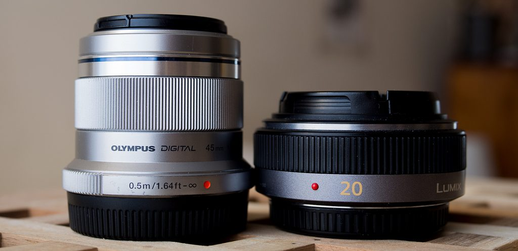 Panasonic 20mm and Olympus 45mm