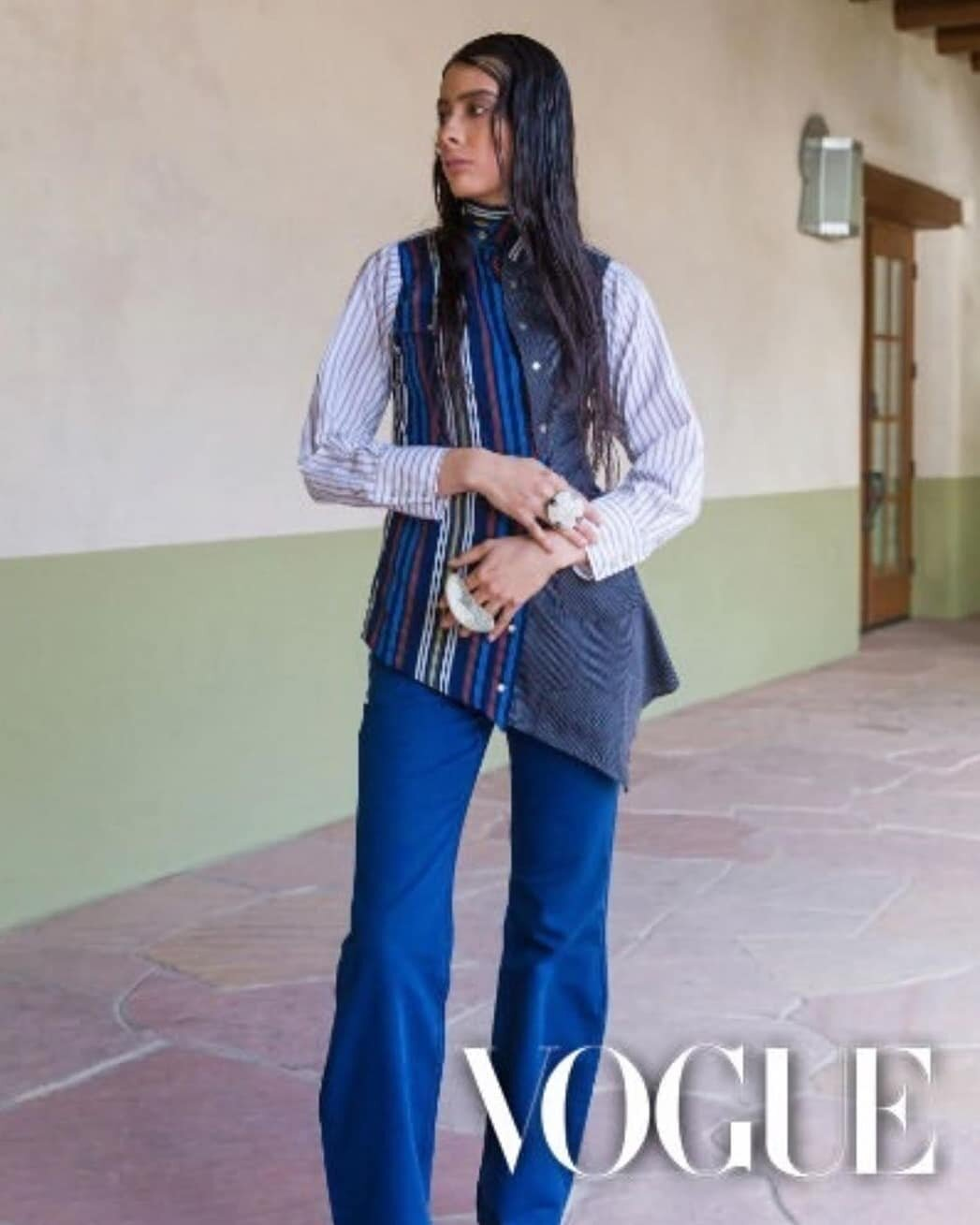 Santa Fe Indian Market Fashion Show 2019 - Featured in Vouge - USA ; By: Christian AllaireMUA Goldie Tom