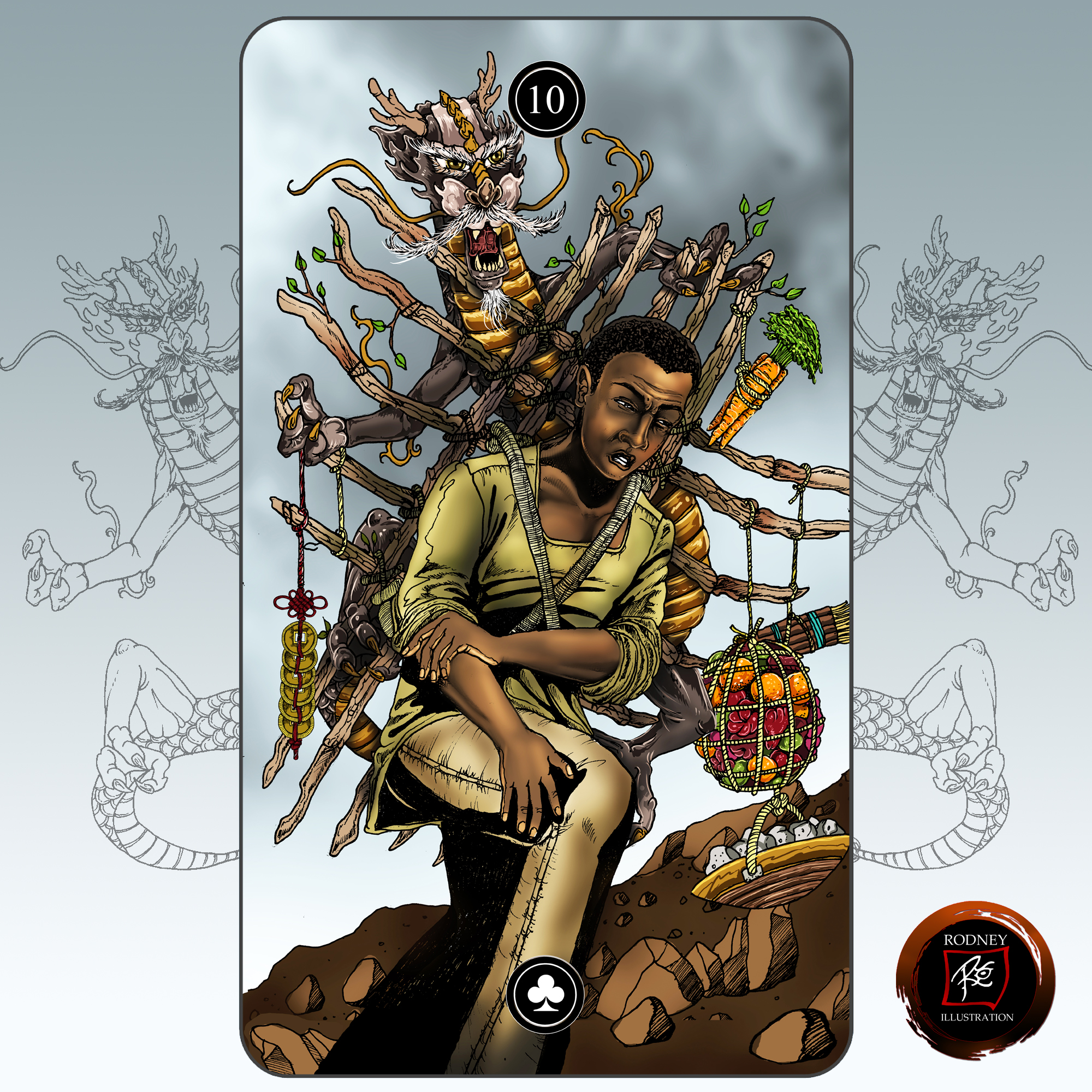"""10 of Sticks"" The Global Fusion Intuitive Deck"