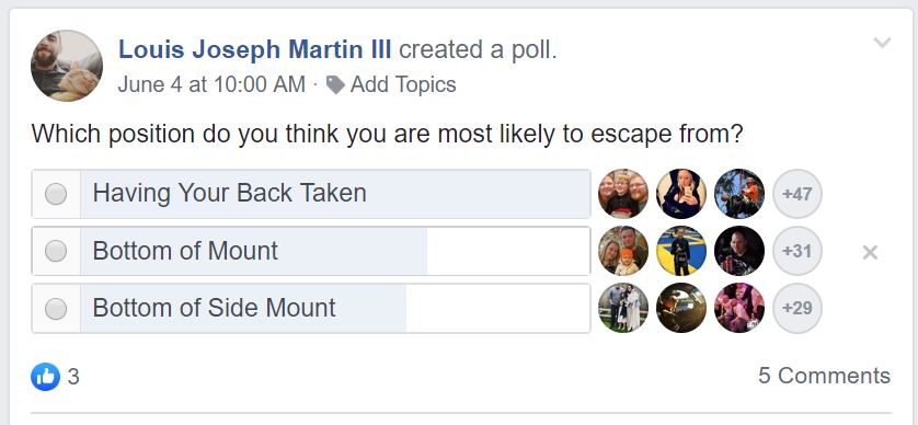 white belt fb poll escapes.JPG