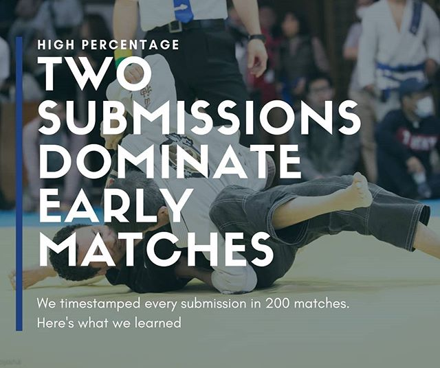 We watched and timestamped 200 submissions at white and blue belt. Two submissions comprised a high number of early finishers. Wanna guess what they were? When your done, you can find the answer at highpercentagemartialarts.com ⚡🤯⚡ #bjjhacks #submissions #bjjdata #bjjlife #jiujitsuife #grappling #gi #nogi #ginagi #highpercentagebjj #jiujitsu #whitebelts #bluebelts #ibjjf #subonly #bjjglobetrotters #bjjgirls #brojitsu #jits #graciejiujitsu