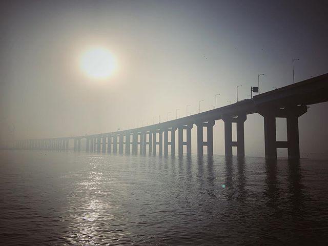 Misty Seohae grand bridge in Pyeongtaek, South Korea. #iphone #morning #mist #haze #landscape #bridge #korea #southkorea #서해대교 #안개 #풍경 #아이폰 #스마트폰사진 #오늘아침