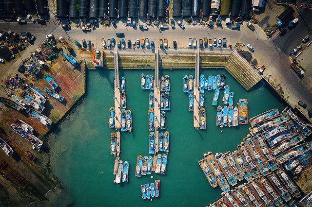 Daecheon port from above. #drone #dji #port #ship #korea #southkorea #드론 #대천항 #항구