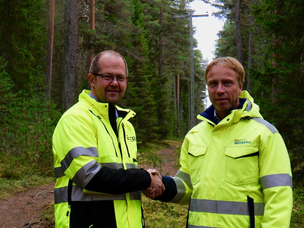 Magnus Karlsson, Vd Exeri och Jörgen Andersson Strand, chef elnät på PiteEnergi
