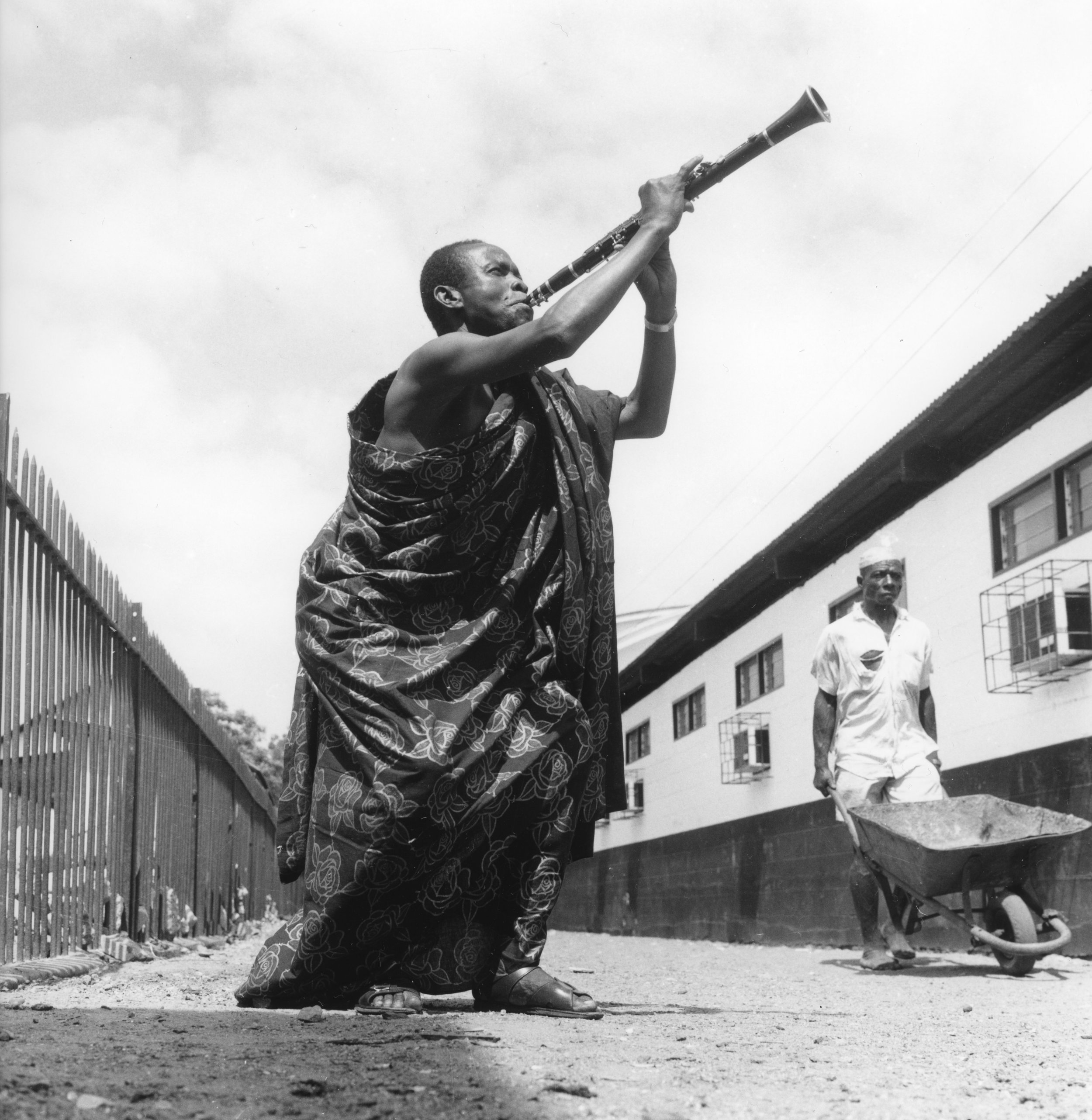 E. K. Nyame, the legendary Ghanaian musician, photographed for a record cover, Accra, c. 1975.