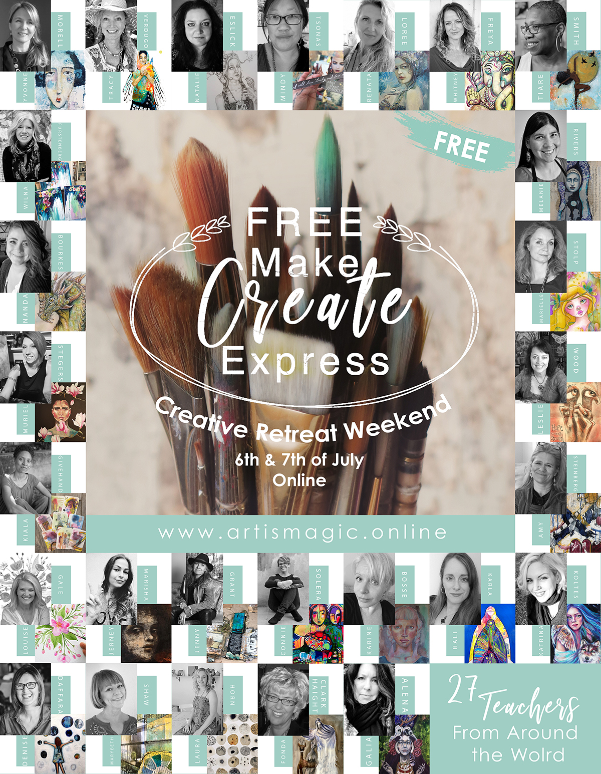 Join me and 26 other amazing teachers from around the world for a FREE weekend of amazing online workshops.