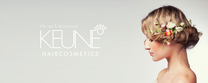 we use and recommend Keune Hair Cosmetics - pretty girl with beautiful hairup braid with flowers wedding hair