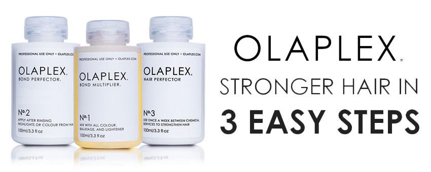 olaplex bond multiplier - no1 no2 and no3 - olaplex stronger hair in 3 easy steps - olaplex stockists