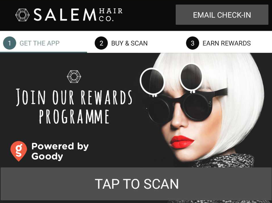 goody card rewards programme for hair services at salem hair co 165 randwick road moera lower hutt - free olaplex vouchers