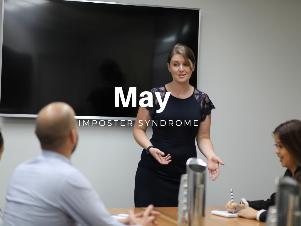 """""""But, what if they think I'm a fraud?"""" - This fear is what stands in the way of SO many people their goals, going for that next promotion or starting their own business. I get it. But it doesn't have to stand in your way forever. Join us this month to discover how to overcome imposter syndrome and start living life the way you want it."""