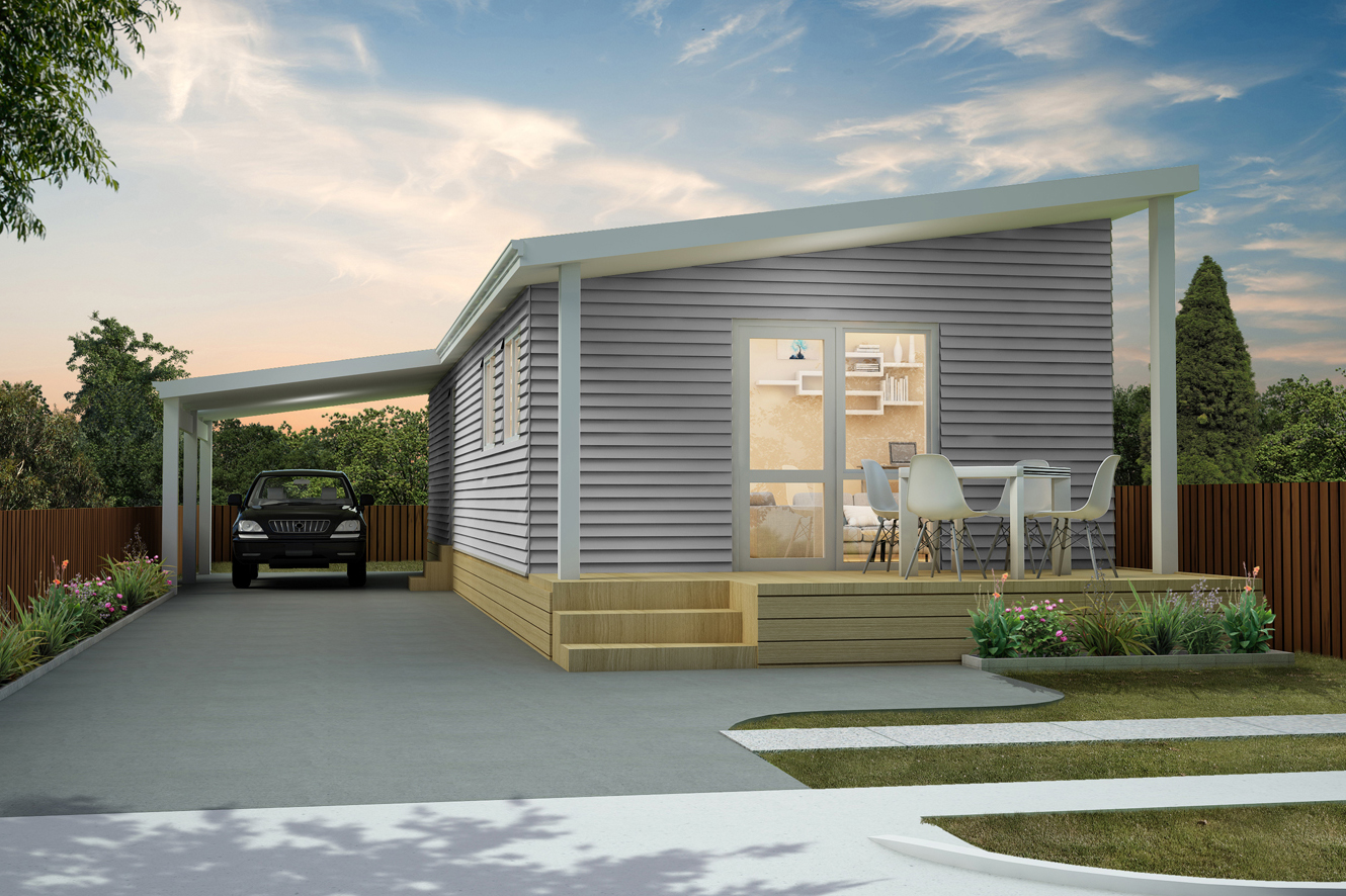 Mrs Brown - Two Bedroom | Mono Pitch Roof | Carport