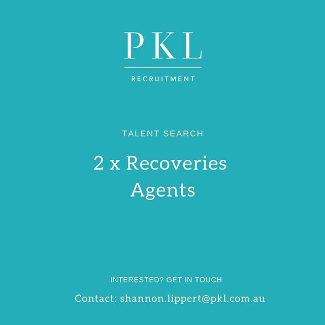 New Role! We are recruiting for 2x Recoveries Agents to work within a global car insurance company with opportunity for career progression! ASAP start! Swipe 👉🏻 for details 📩Contact: shannon.lippert@pkl.com.au #pklrecruitment #pklpositions