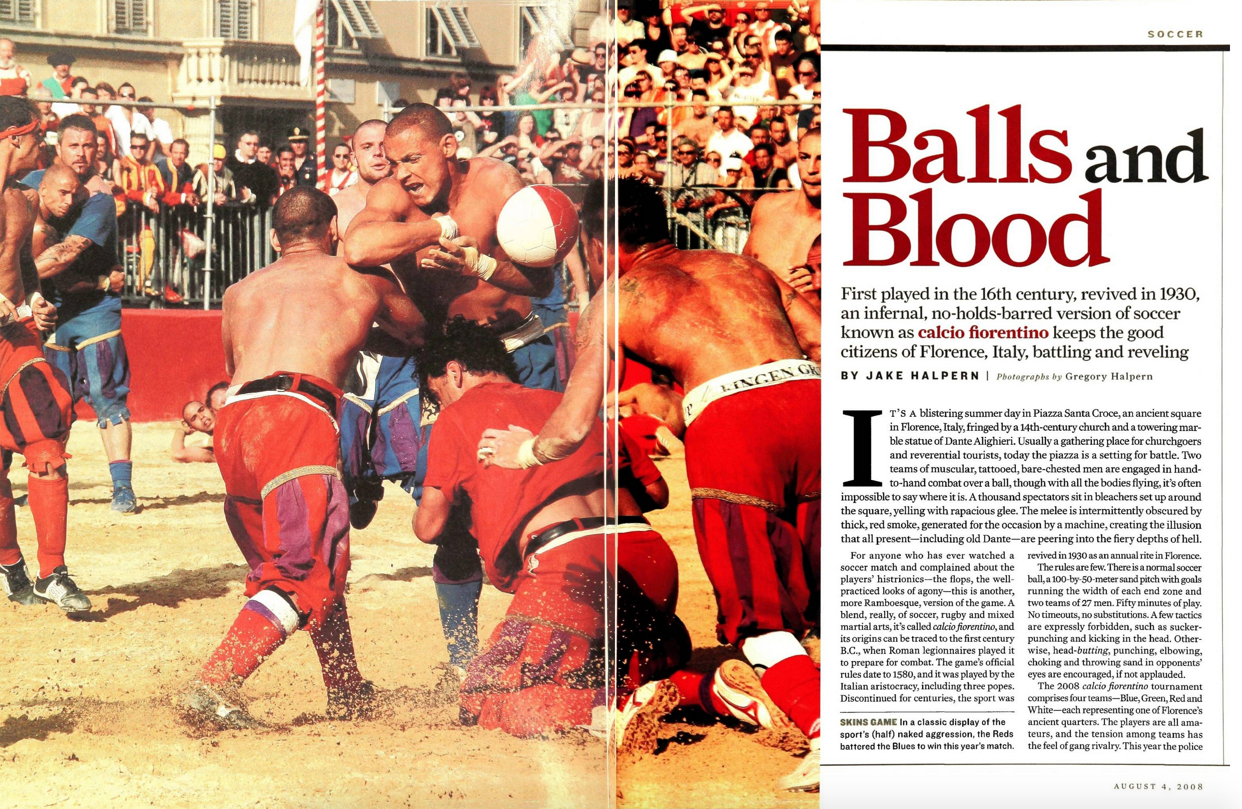 Balls and Blood on Sports Illustrated
