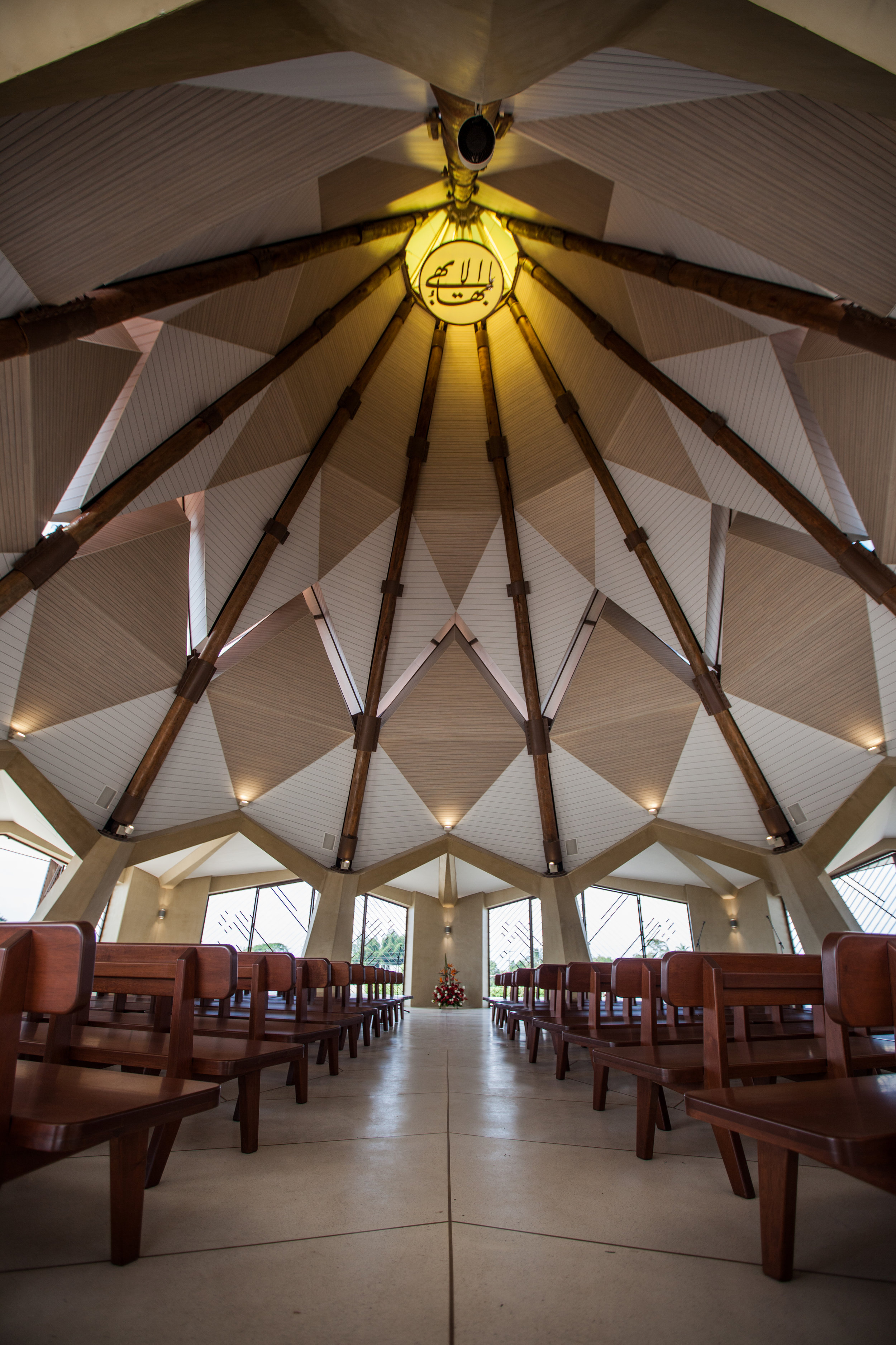 The Bahá'í House of Worship in Norte del Cauca, Colombia, remains open during the week to visitors.