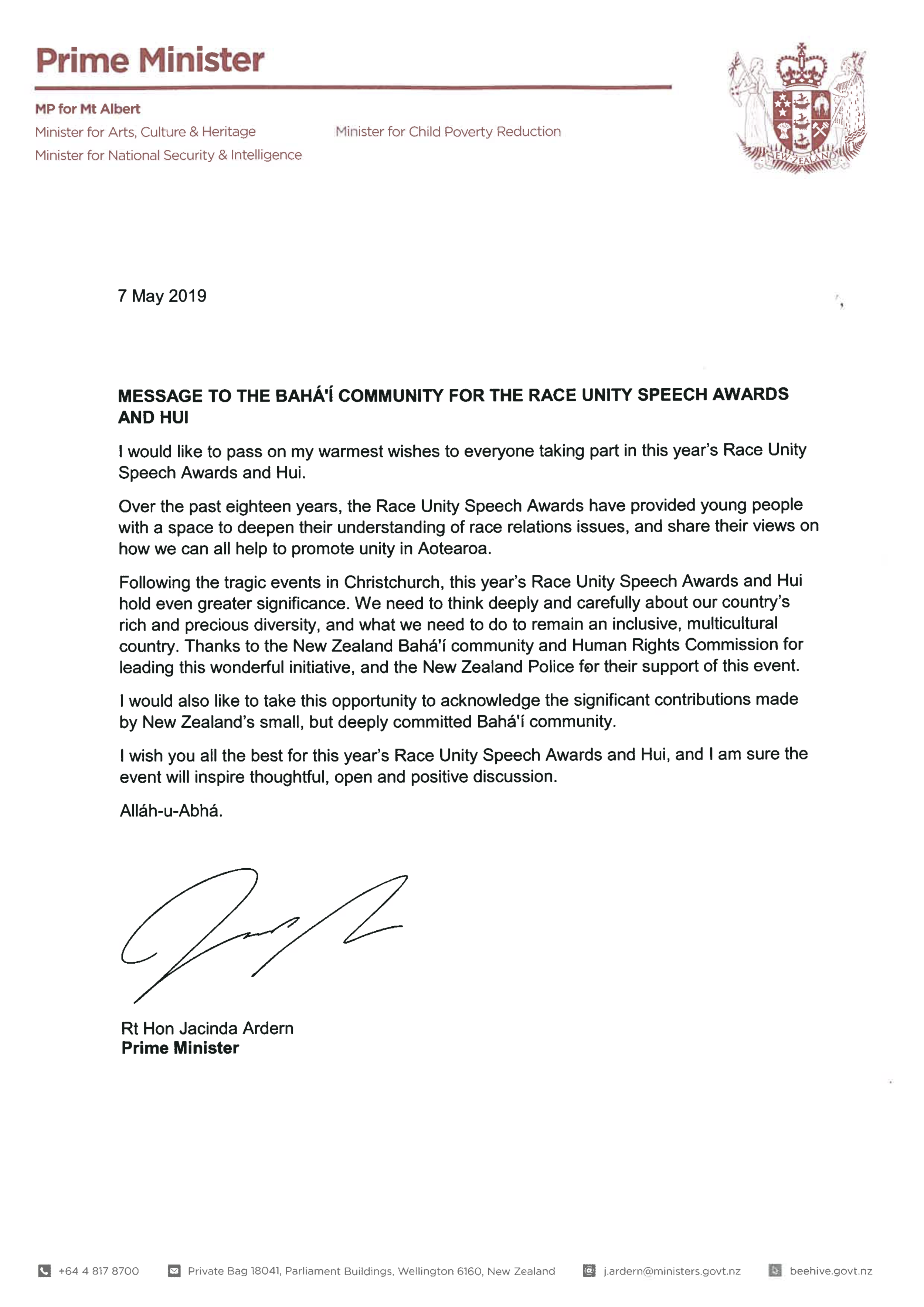 Message for the Race Unity Speech Awards and Hui - amended.png