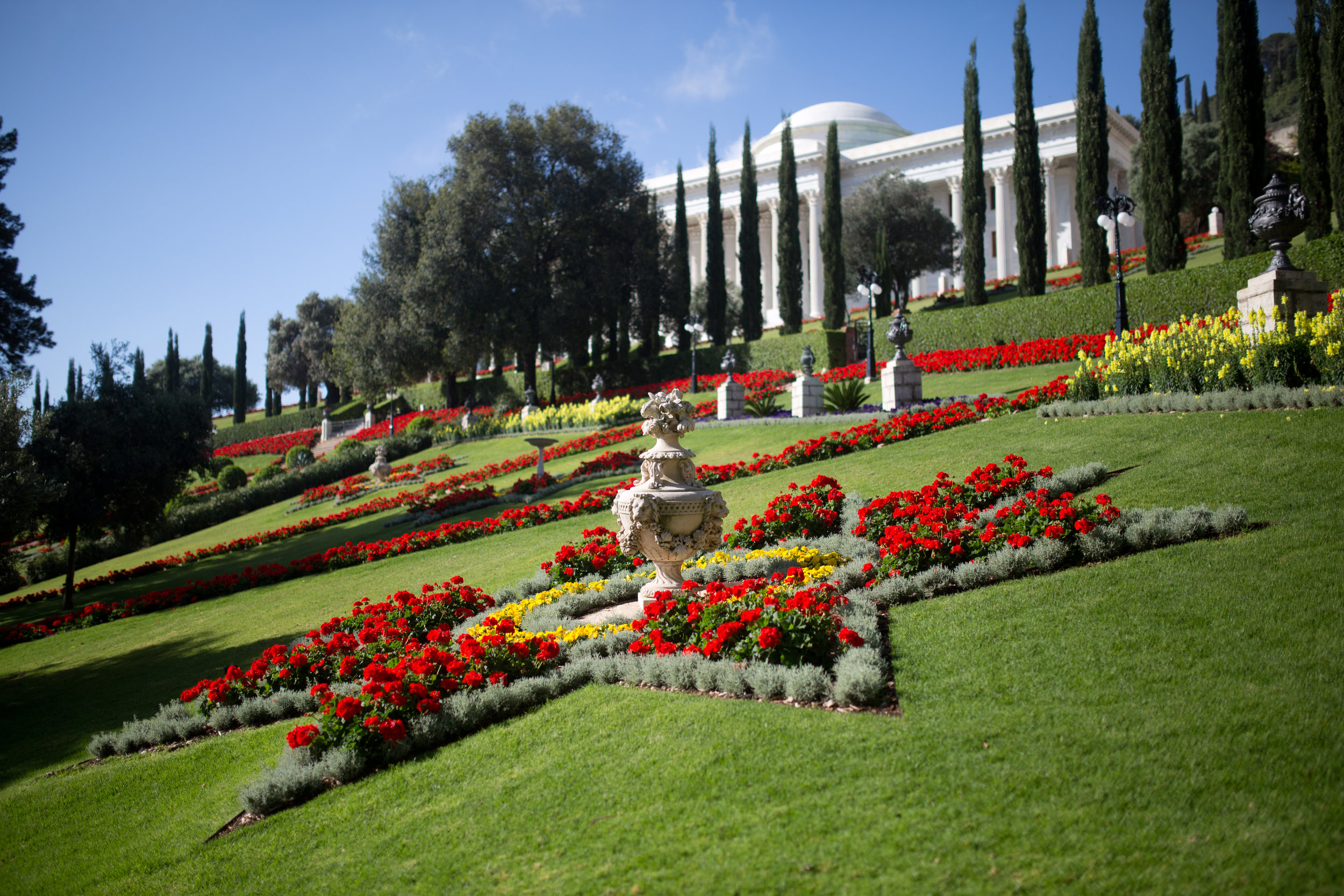Seat of the Universal House of Justice and surrounding gardens.