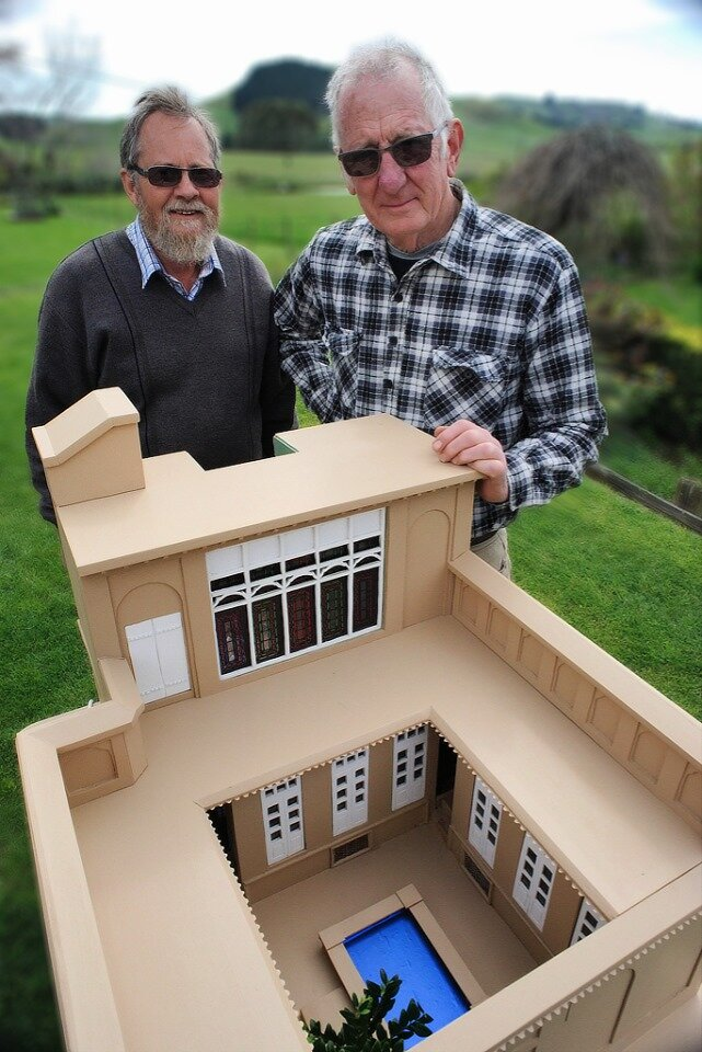 A model of model of the House of the Báb in Shíráz made by Keith Mitcherson and David Carr (pictured). They started work more than a year before the bicentenary of the Birth of the Báb.