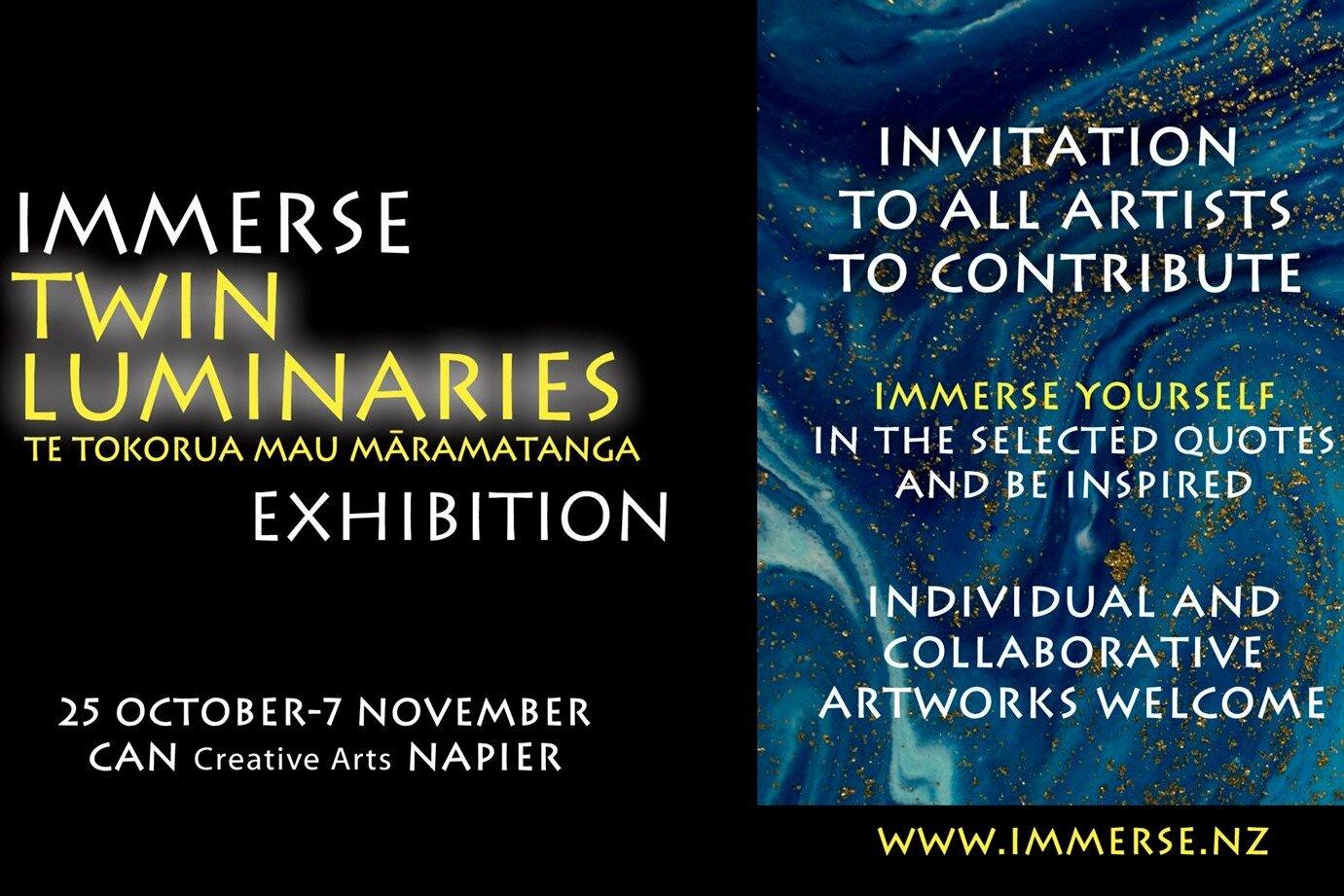 Immerse exhibition — Napier
