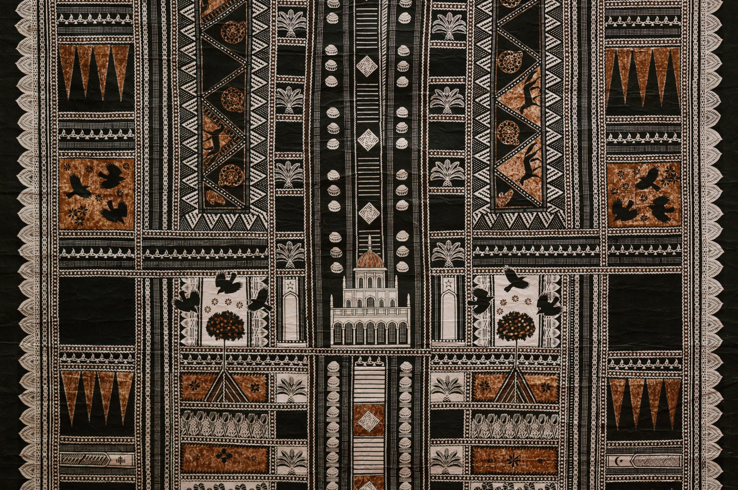 Detail of Suka Siti tapa cloth
