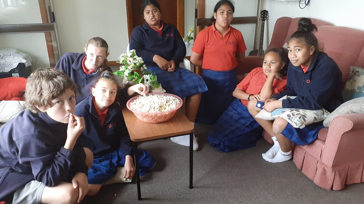 Junior youth in Otaki after devotions and consultation on how to celebrate the bicentenary