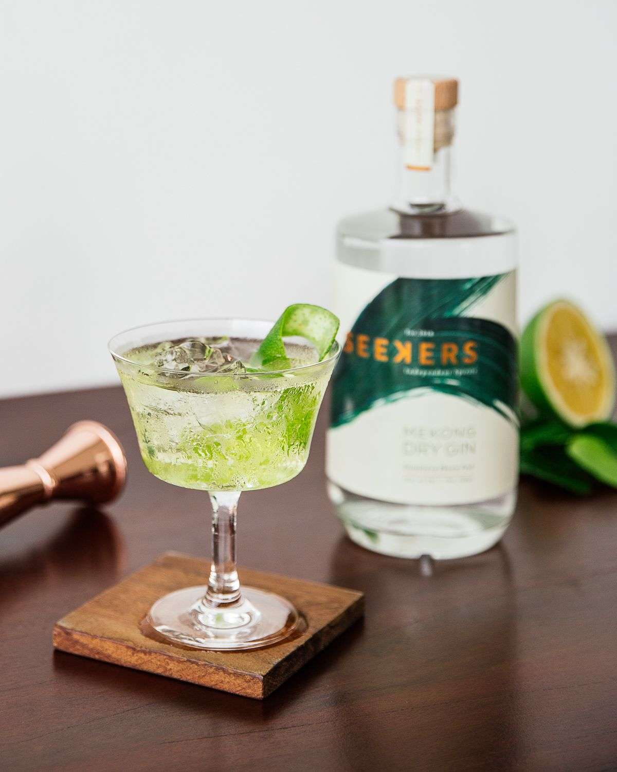 Seekers White Negroni - Bold, complex, seductive. A Seekers twist on a timeless classic.30ml Seekers Mekong Dry Gin20ml Lillet Blanc10ml SuzeAdd all the ingredients into a mixing glass with ice and stir. Strain into a rocks glass. Add ice. Garnish with a green orange twist.