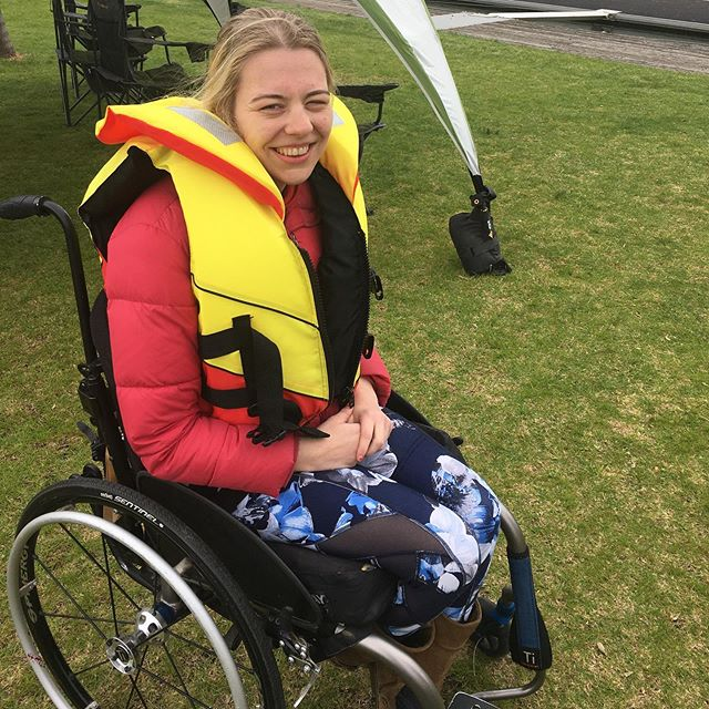 Yesterday I went sailing with mark who works with Sailability. I had lots of fun and am looking forward to doing it again #sailing #abilitynotdisabilty #rarediseases #livelaughplay