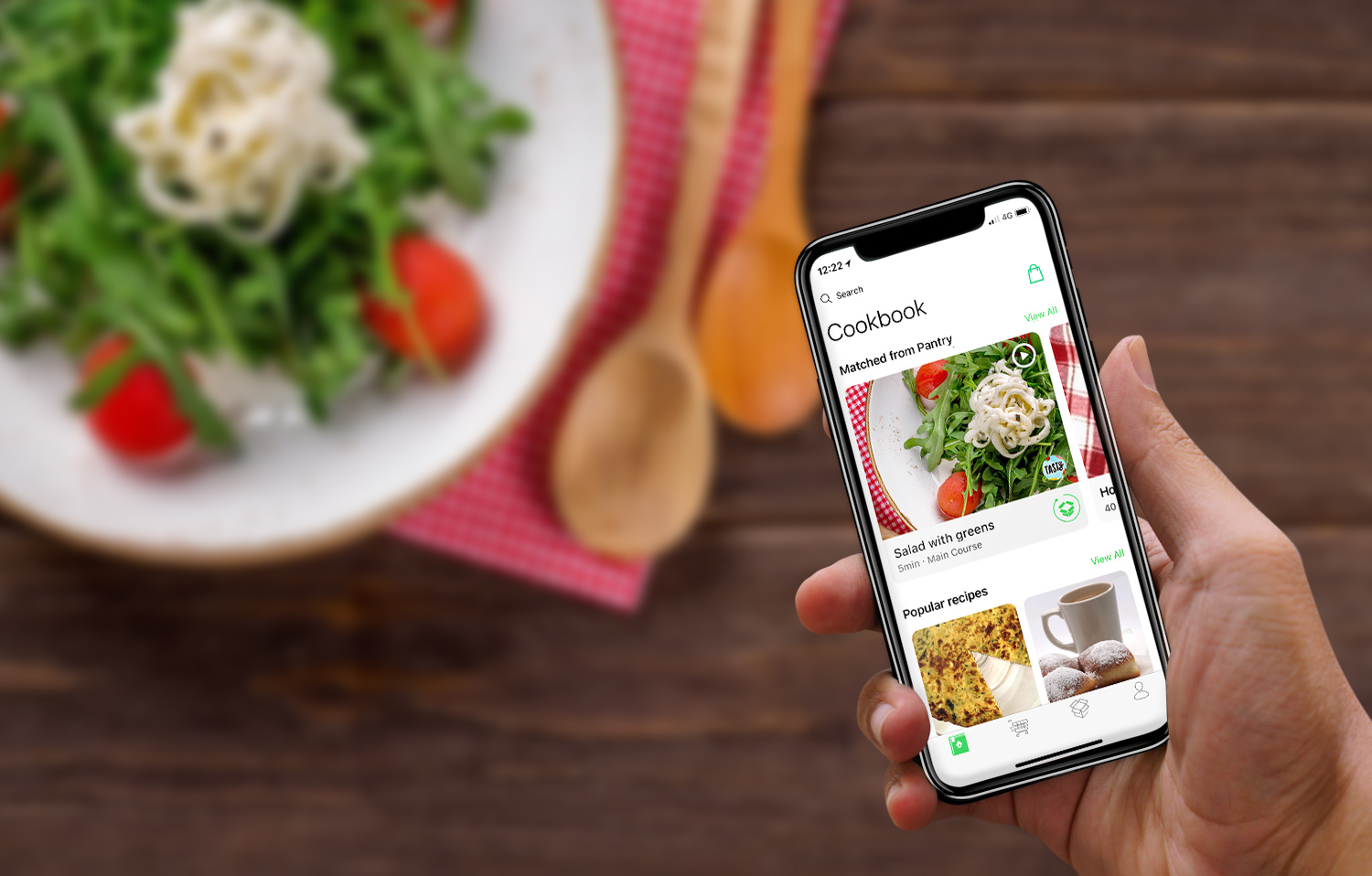 Meet your new   AI kitchen assistant.       App Store   Play Store