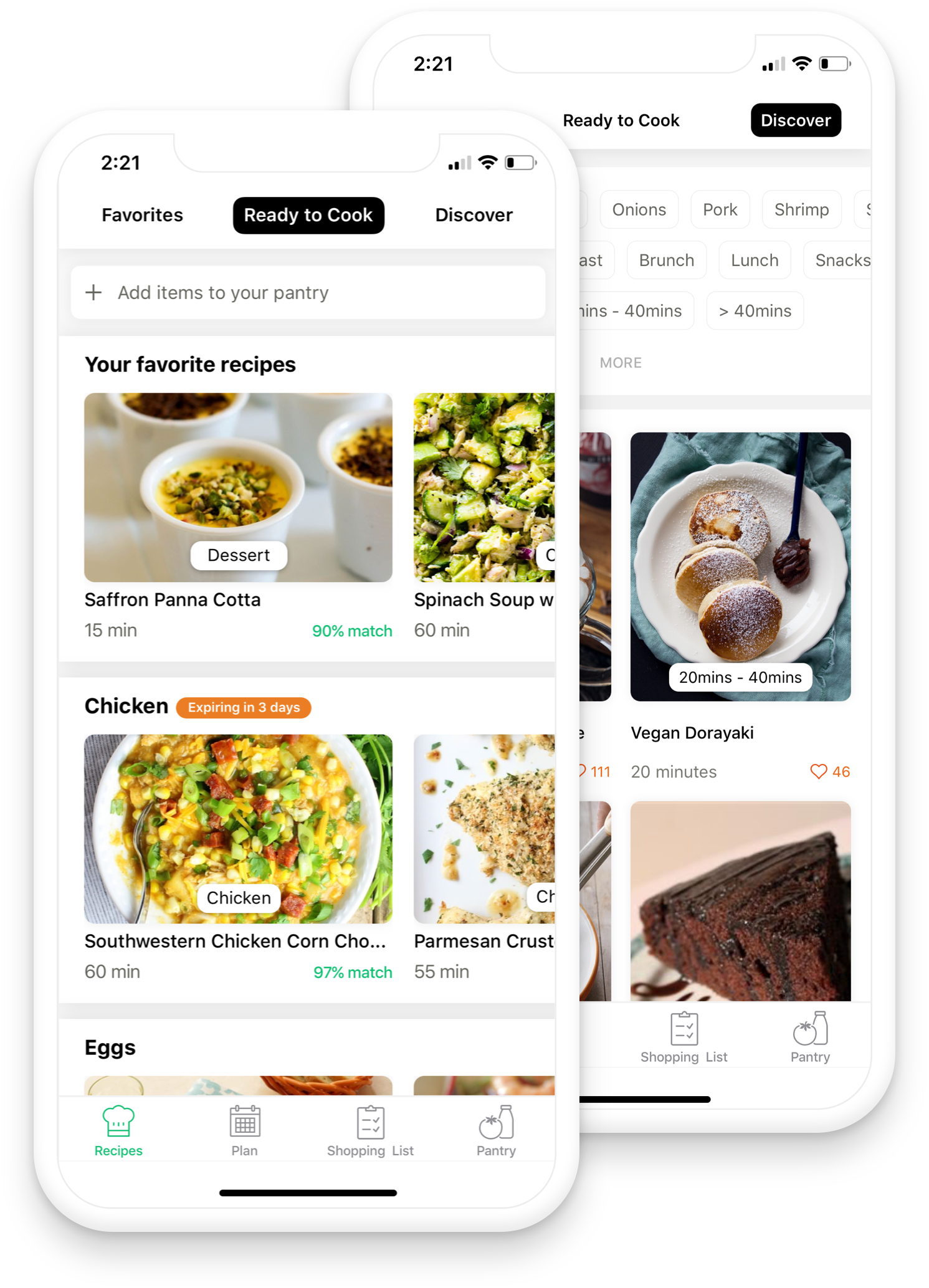 All your Grocery Needs - In one placeAdd missing ingredients to your shopping list with one touch. Chefling syncs your shopping list in real-time with family members to manage your shopping.