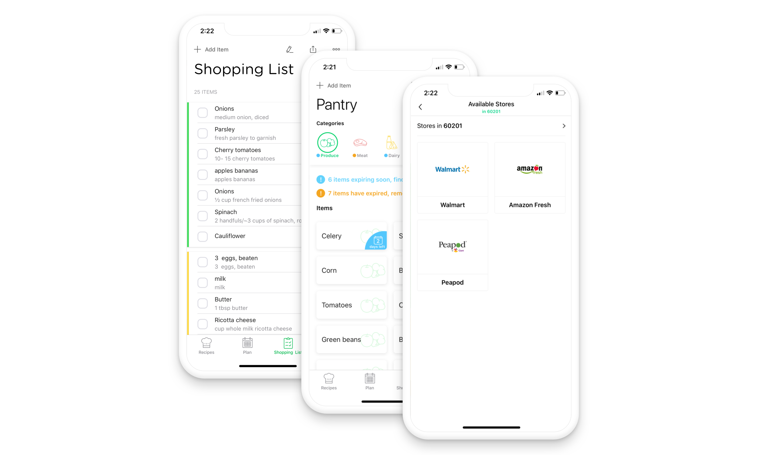 All your grocery needs in one place - Add missing ingredients to your shopping list with one touch. Chefling syncs your shopping list in real-time with family members to manage your shopping.