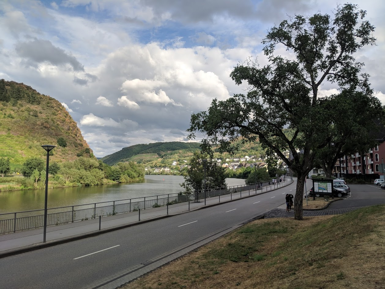View of the Mosel from the parking lot.