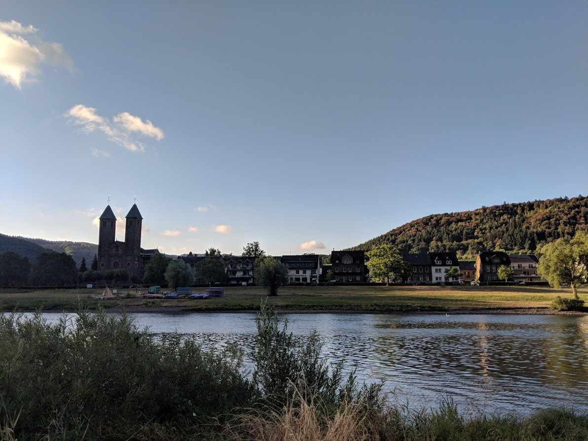 Ernst, Germany from across the Mosel