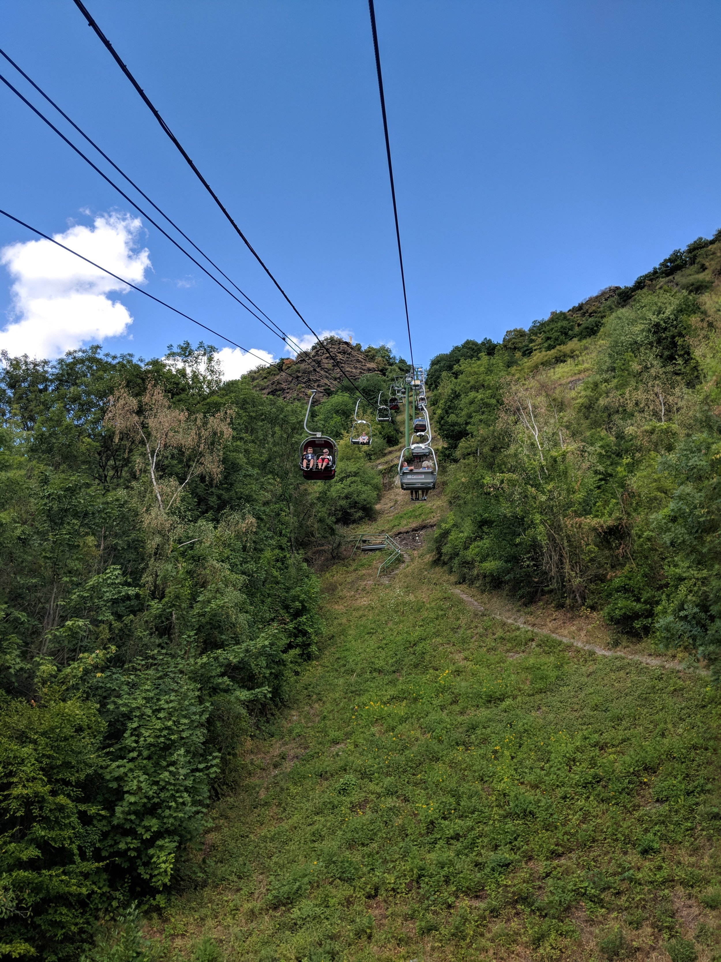 Riding up the Sesselbahn