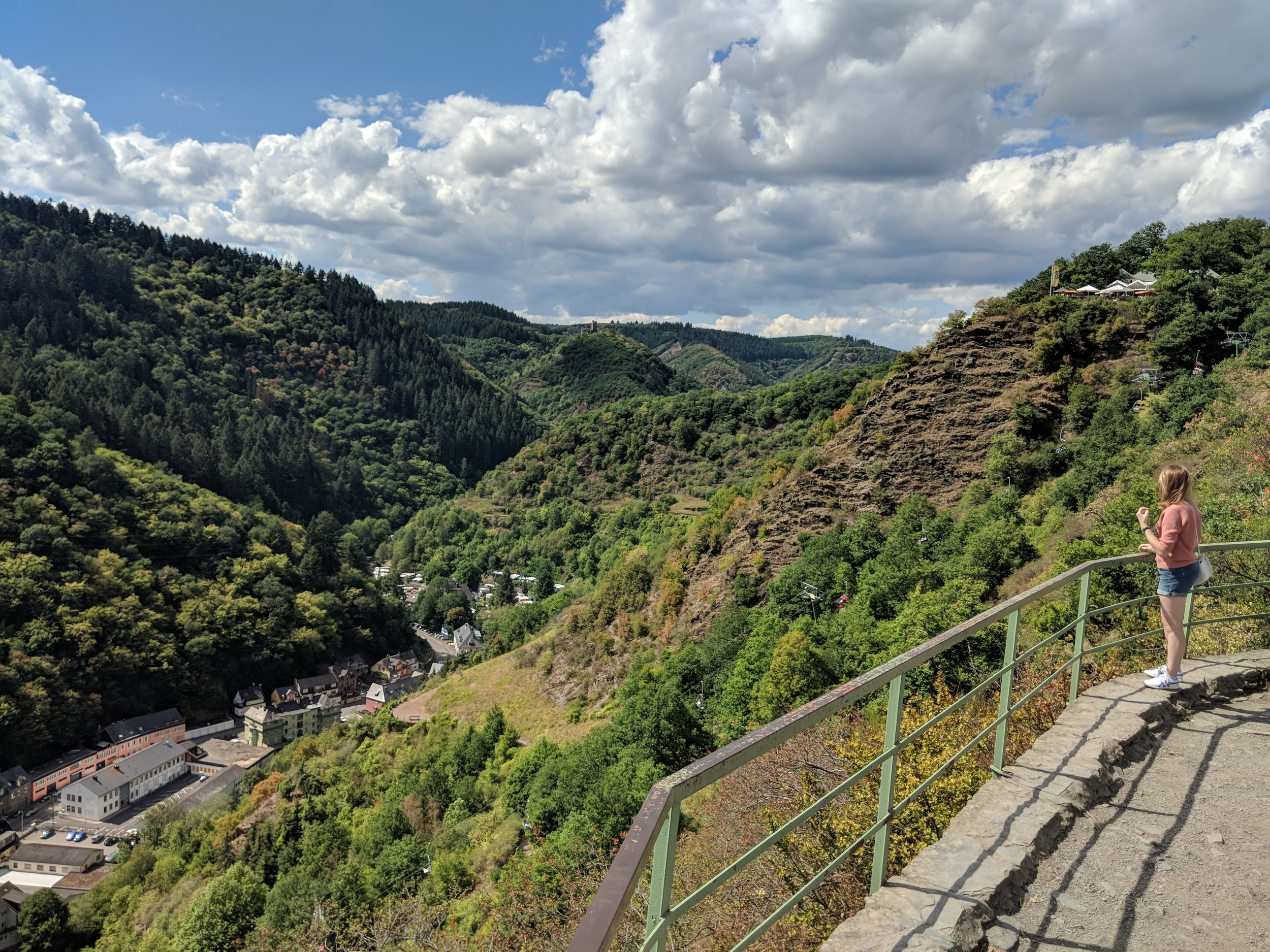 The view from the top of the Cochemer Sesselbahn