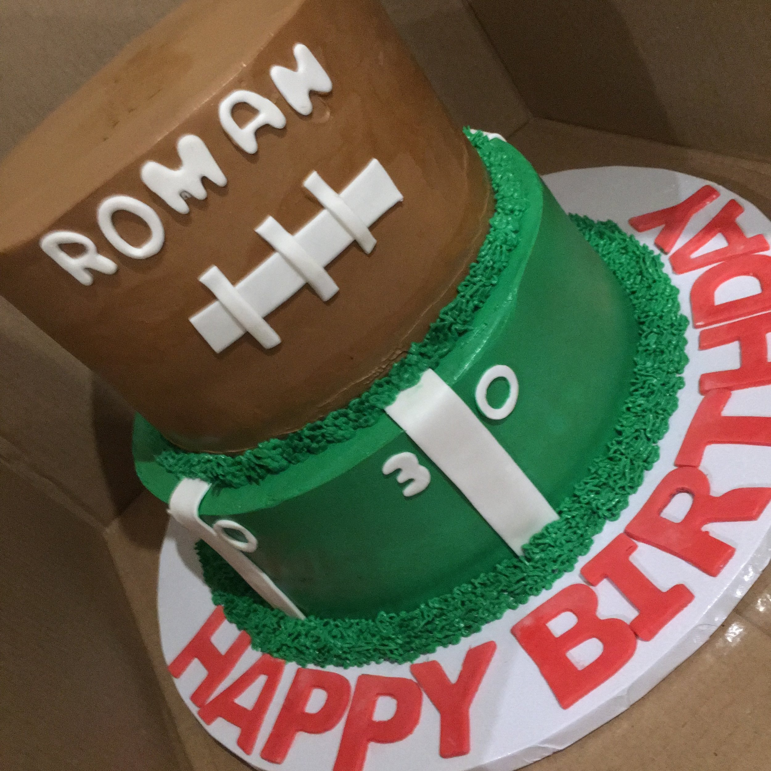 Football Birthday CAKE - Mwokaji CAkery .JPG