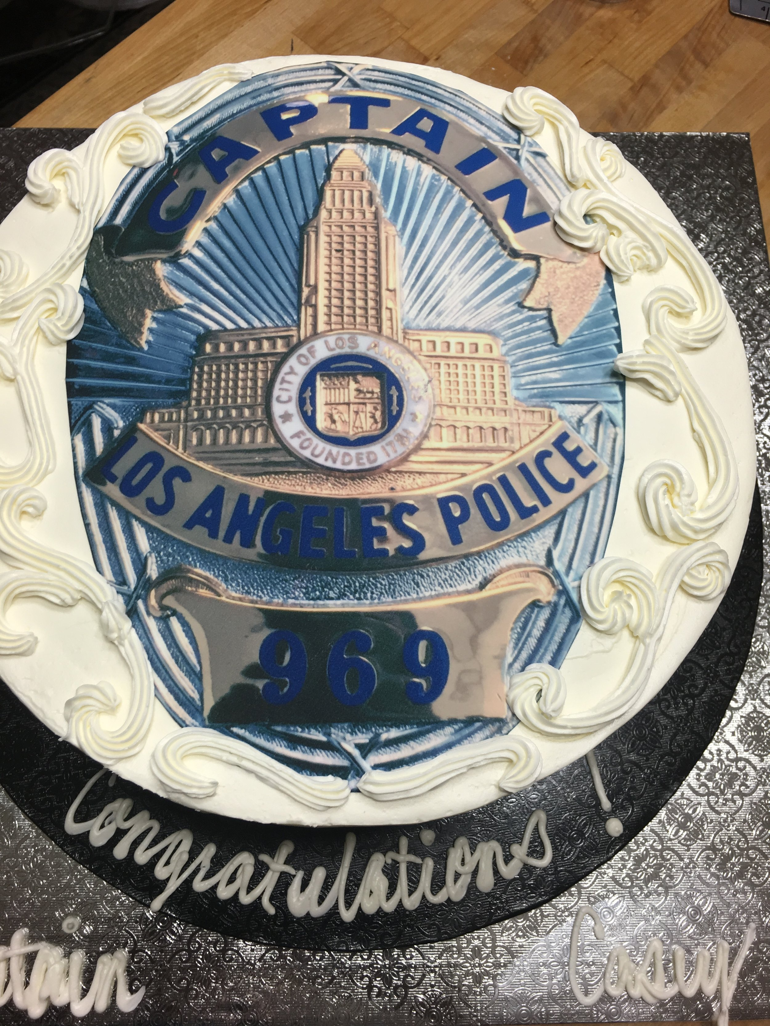 LAPD Captain Promotion Cake - Mwokaji Cakery .JPG