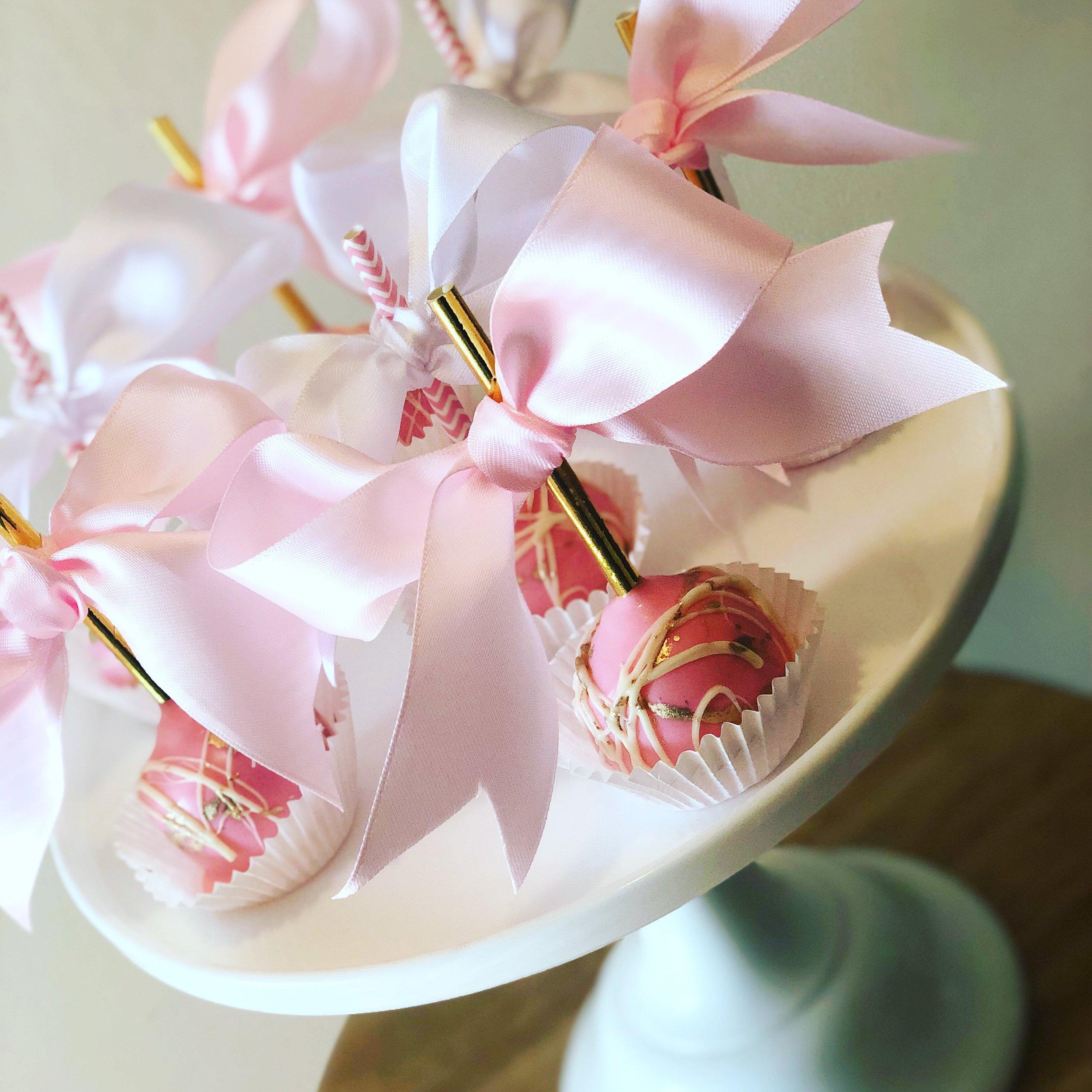 Pink & White Baby Shower Cake Pops - Mwokaji Cakery.JPG