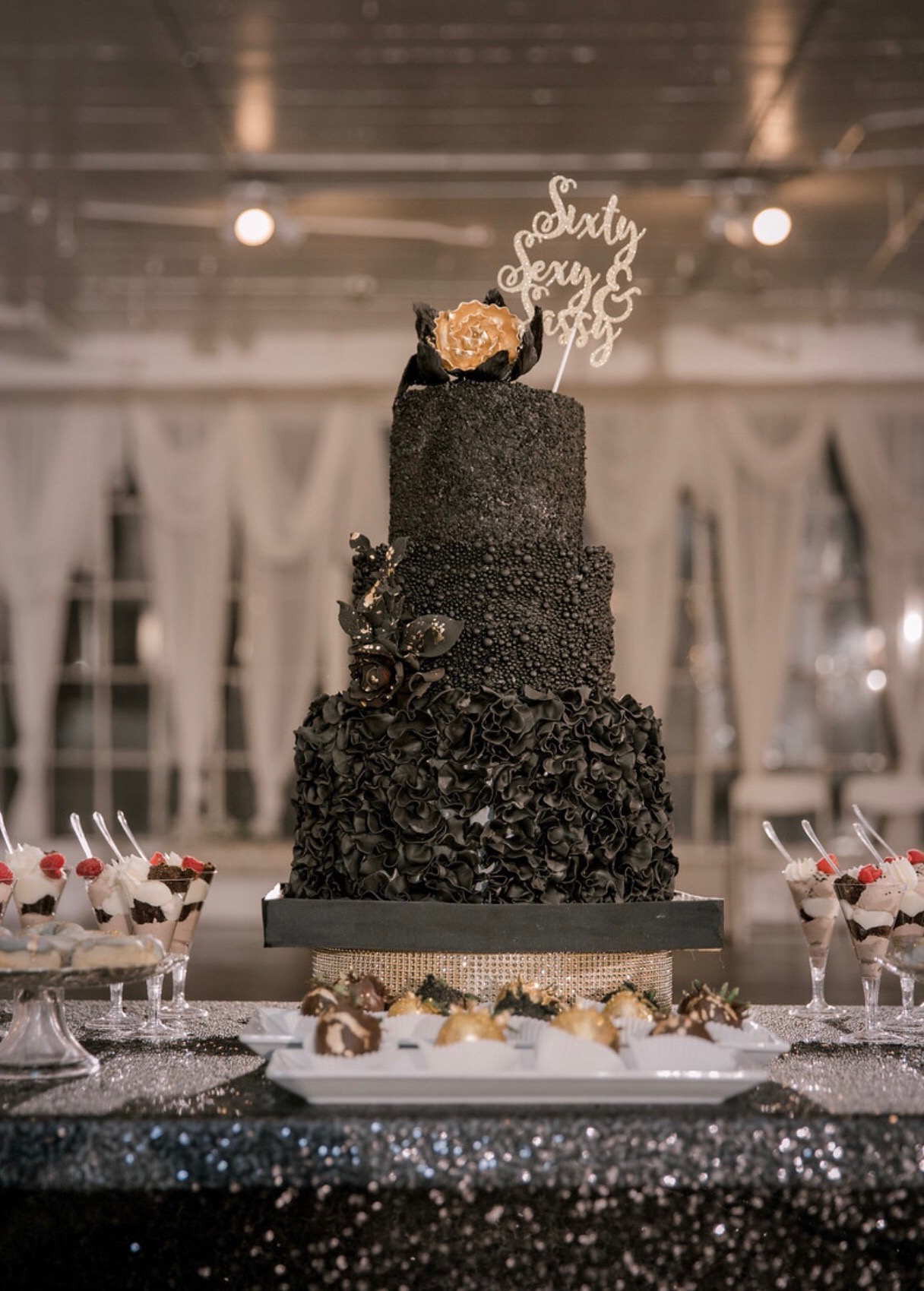 Custom Black 3-tier cake.JPG