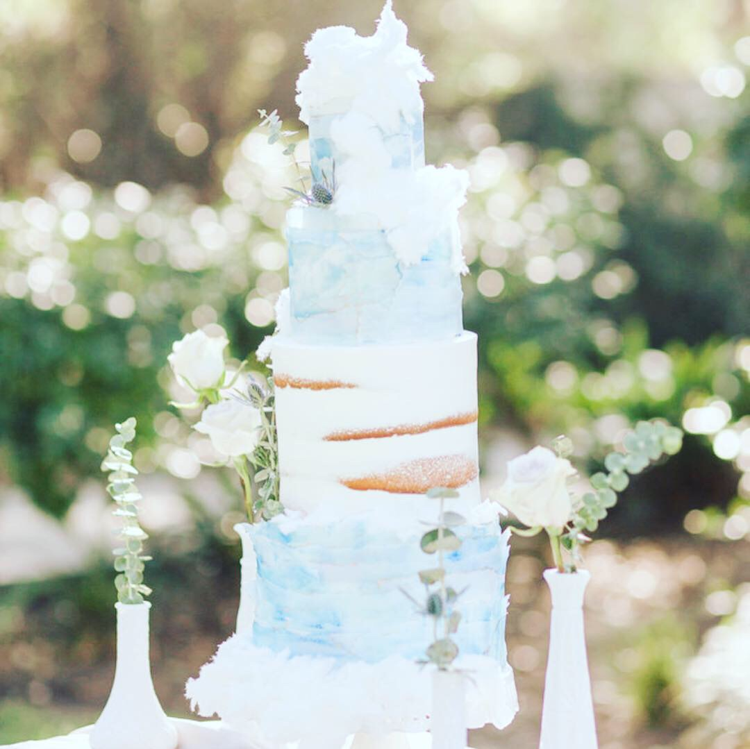 Cotton Candy - Sky blue wedding cloud cake - mwokaji cakery.JPG