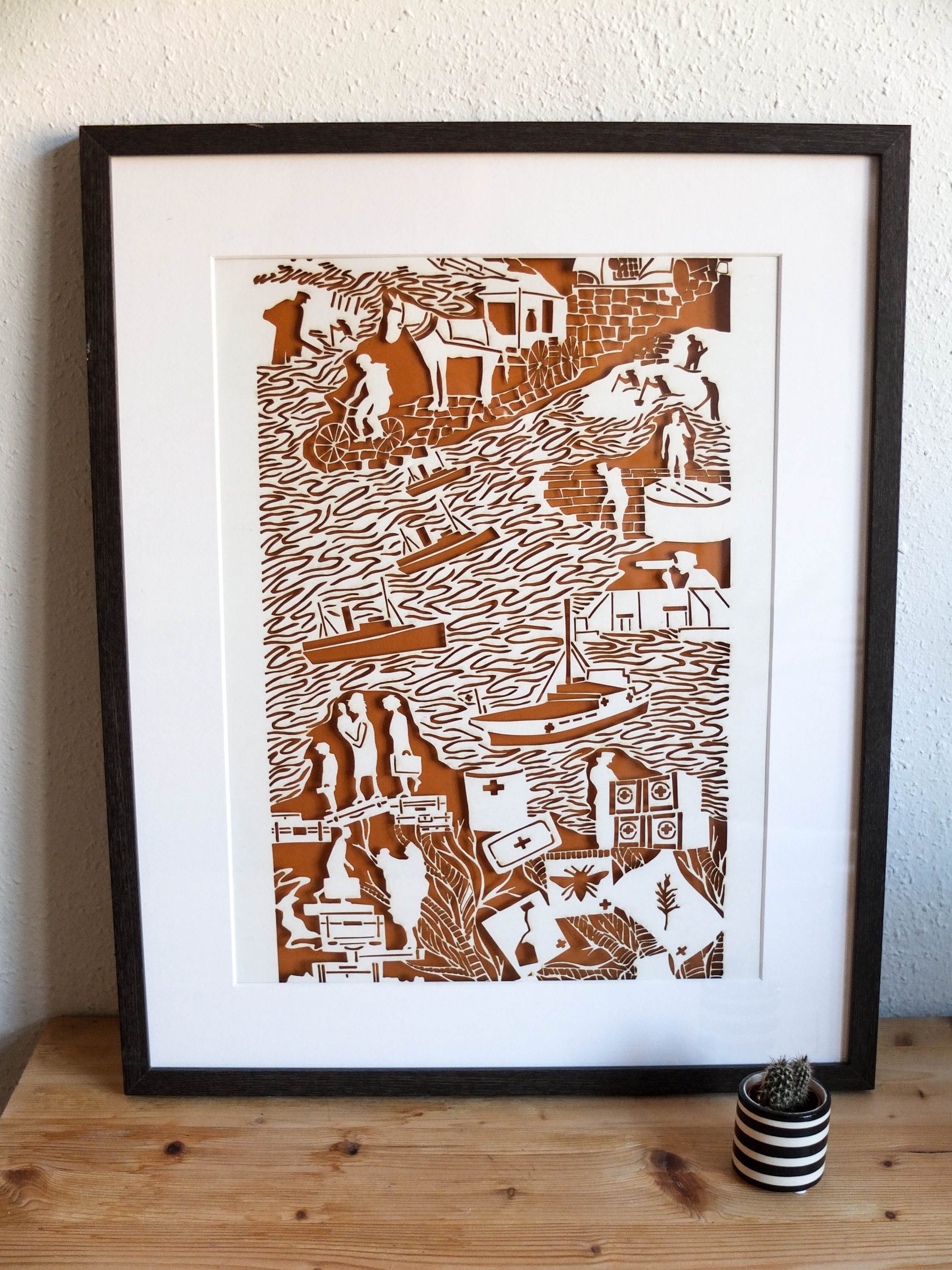 St Lawrence - Laser Cut Print .