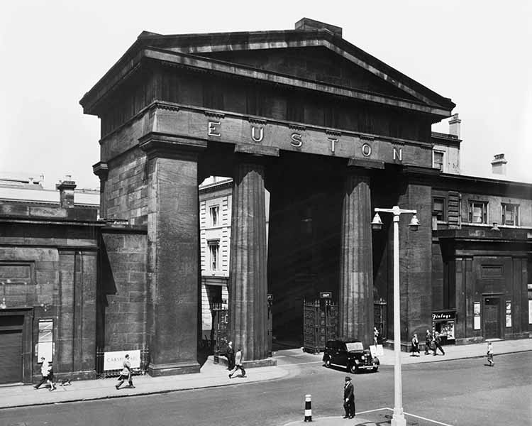 The Euston Arch, circa 1955