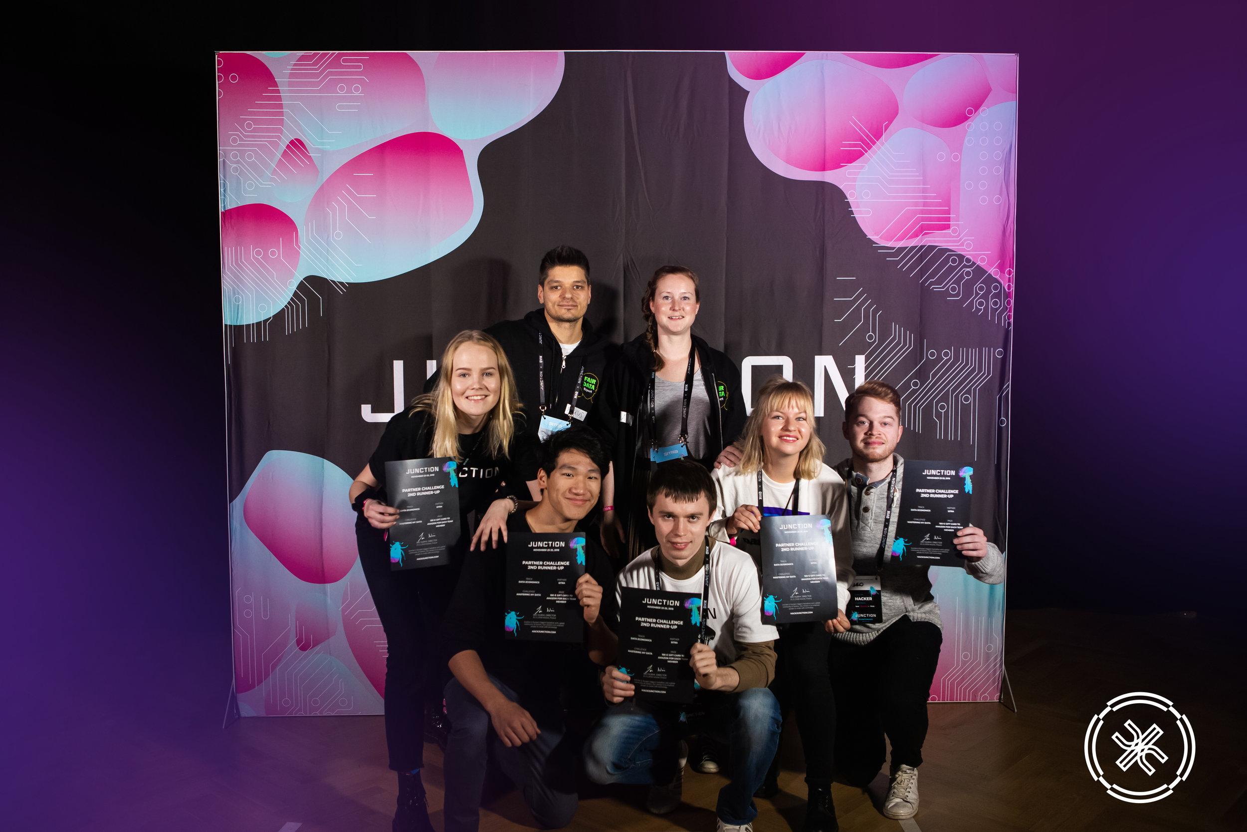 Team photo. Copyright Aino Röyskö / Junction