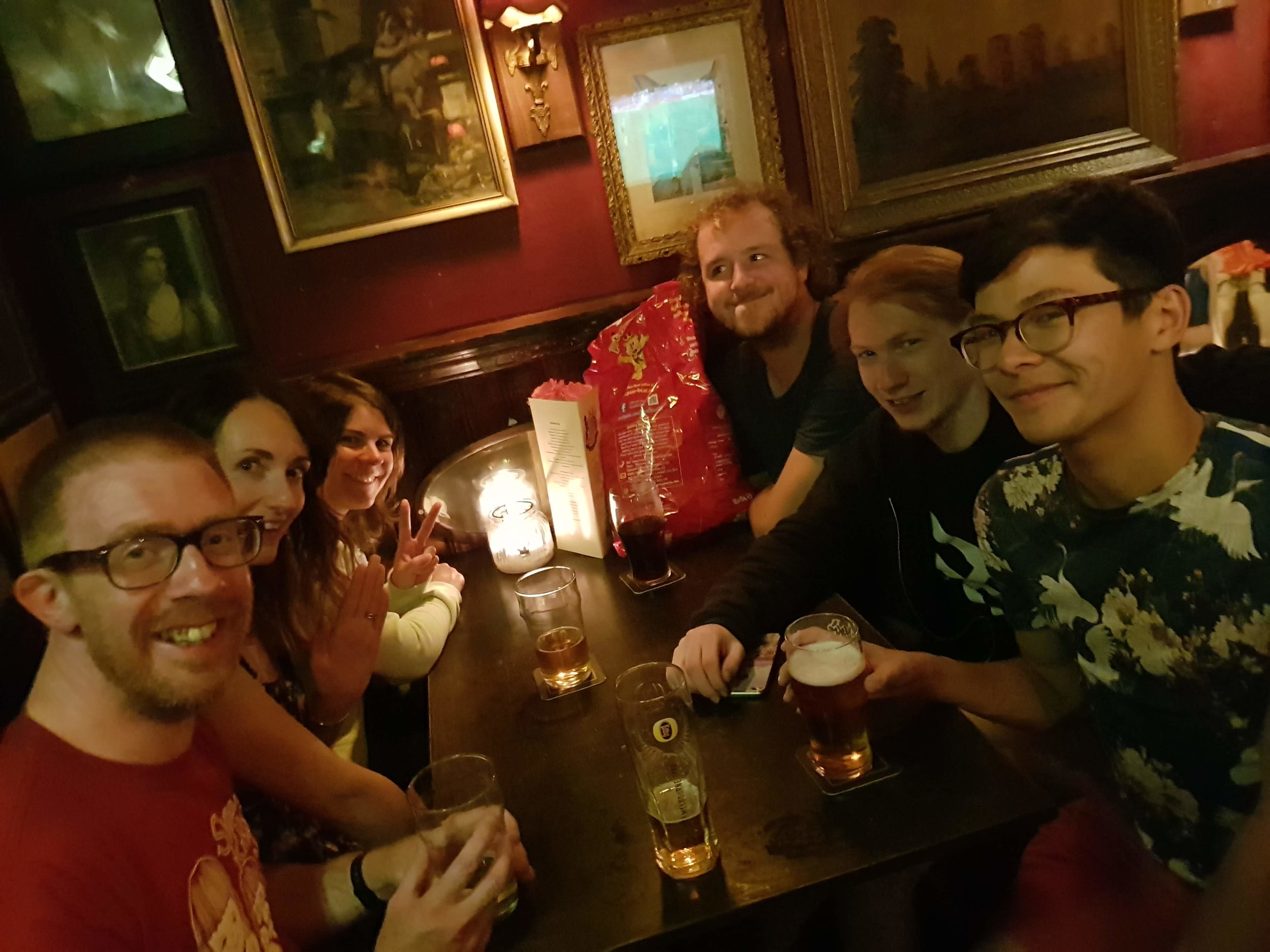 Some of us decanted to a pub, to talk about pub quizzes, parkour and the  Shikoku 88 pilgrimage .