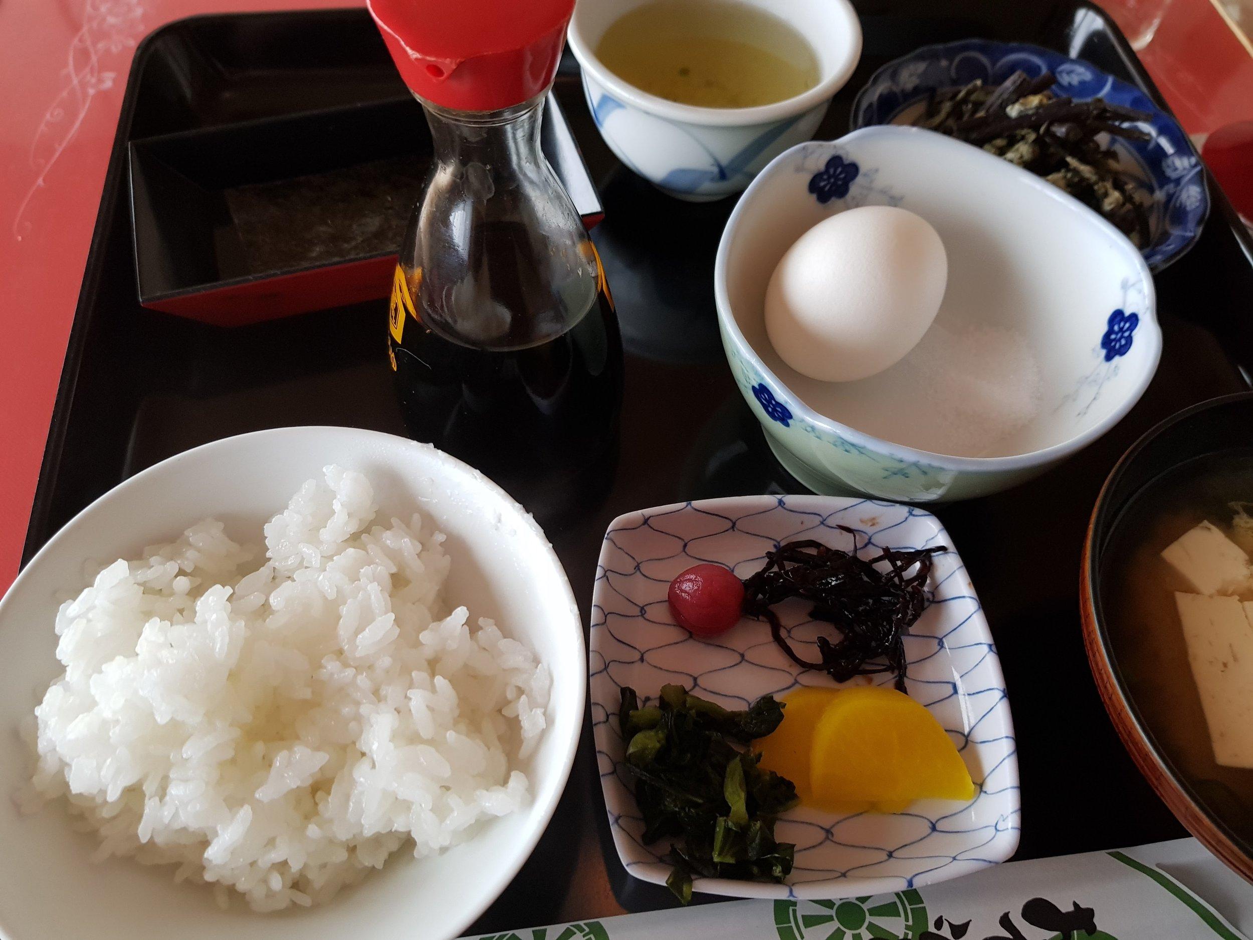 Breakfast at shousanji (焼山寺), temple number 12.