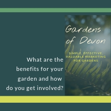 Do you own a garden that opens to the public? Download our brochure or get in touch. We hope you join us! -