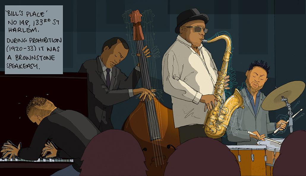 Bill's Place, cool jazz, Harlem, New York