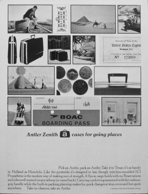 The final press ad showing a visual travelogue